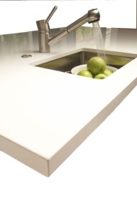 crushed quartz white counters