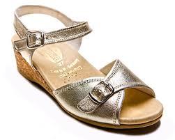 gold worishofer sandal