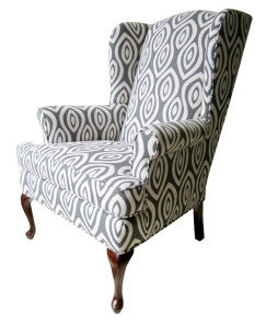 a reupholstered chair by chairloom