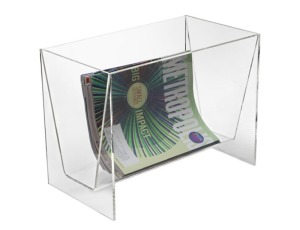 cool clear magazine rack